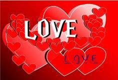 Disegno di scheda di amore Immagine Stock
