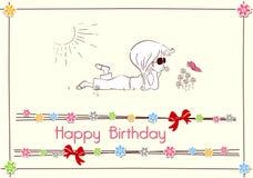 Disegno di scheda di buon compleanno Immagine Stock Libera da Diritti