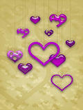Disegno di scheda di giorno del biglietto di S. Valentino Fotografie Stock Libere da Diritti