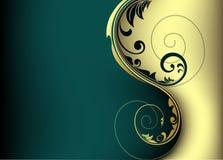 Disegno di scheda dorato Immagine Stock
