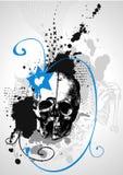 Disegno di scheletro del cranio Fotografie Stock Libere da Diritti