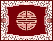 Disegno di schermo cinese Fotografia Stock