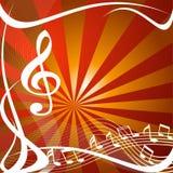 Disegno di simboli musicali Fotografia Stock