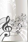 Disegno di simboli musicali Fotografia Stock Libera da Diritti
