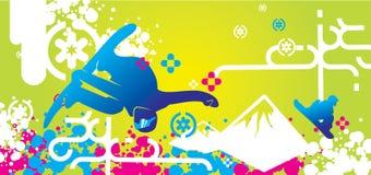 Disegno di snowboard Fotografia Stock