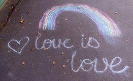 Disegno di un arcobaleno Fotografia Stock