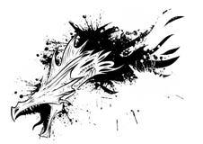 Disegno di un inchiostro dell'illustrazione di vettore del drago illustrazione vettoriale
