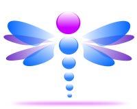 Disegno di un logo della società della libellula illustrazione vettoriale