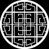 Disegno di una finestra del cerchio di griglia immagine stock