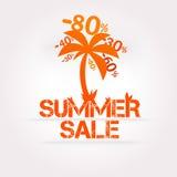 Disegno di vendita di estate di vettore. Fotografia Stock