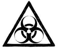 Disegno di vettore del segno di simbolo di rischio biologico illustrazione vettoriale