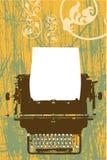 Disegno di vettore della macchina da scrivere Fotografia Stock Libera da Diritti