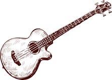 Chitarra acustica Immagine Stock Libera da Diritti