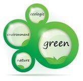 Disegno di Web astratto verde di Eco Fotografia Stock Libera da Diritti