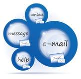 Disegno di Web blu dell'estratto del email Fotografie Stock