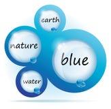 Disegno di Web dell'estratto dell'acqua blu Immagini Stock