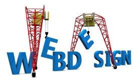 Disegno di Web della costruzione 3D Immagine Stock