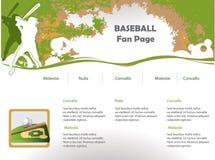 Disegno di Web site di baseball Immagine Stock