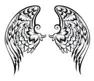 Disegno di Wings.Tatoo illustrazione di stock