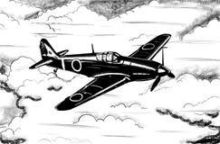 Disegno digitale degli aerei d'annata di guerra mondiale 2 royalty illustrazione gratis