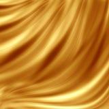 Disegno dorato dell'onda Immagini Stock