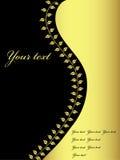 Disegno dorato e nero, vettore Fotografie Stock Libere da Diritti