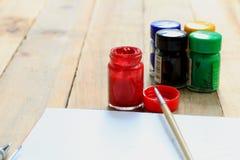 Disegno e pittura di schizzo Immagini Stock