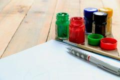 Disegno e pittura di schizzo Fotografie Stock