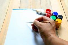 Disegno e pittura di schizzo Immagine Stock
