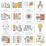 Disegno e sviluppo Immagini Stock