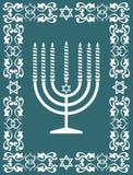 Disegno ebreo del menorah, illustrazione di vettore Fotografie Stock