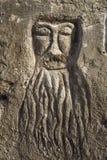 Disegno fatto sulla superficie della sabbia e dell'argilla della duna Immagine Stock
