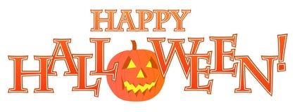 Disegno felice del testo di Halloween Fotografia Stock