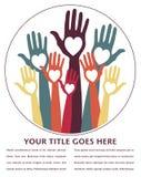 Disegno felice delle mani. Fotografia Stock Libera da Diritti