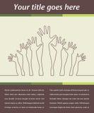 Disegno felice delle mani. Fotografia Stock