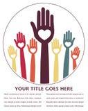Disegno felice delle mani. Immagine Stock Libera da Diritti