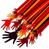 Disegno felice dinamico delle mani Immagini Stock