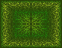 Disegno a filigrana in tonalità di verde Fotografie Stock