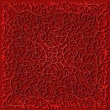 Grafico a filigrana del pizzo, rosso Fotografie Stock Libere da Diritti