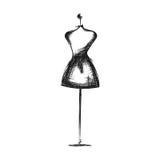 Disegno fittizio della mano del vestito royalty illustrazione gratis
