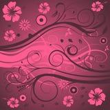 Disegno floreale astratto illustrazione vettoriale