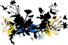 Disegno floreale astratto Fotografia Stock Libera da Diritti