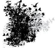 Disegno floreale astratto Immagine Stock