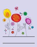 Disegno floreale astratto Fotografia Stock