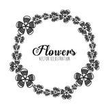 Disegno floreale in bianco e nero Fotografia Stock