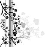 Disegno floreale in bianco e nero Immagine Stock Libera da Diritti