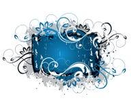 Disegno floreale blu Fotografie Stock Libere da Diritti
