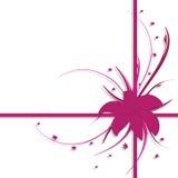 Disegno floreale, colore rosa e porpora Fotografia Stock