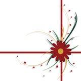Disegno floreale, colore rosso e verde Fotografia Stock
