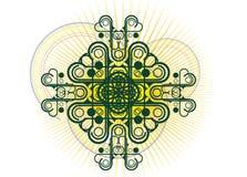 Disegno floreale decorativo del coperchio illustrazione di stock